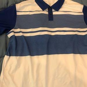 Polo shirt nwot medium many and white